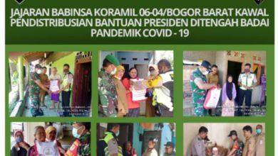 Photo of JAJARAN BABINSA KORAMIL 06-04/BOBAR KAWAL BANTUAN PRESIDEN DITENGAH BADAI PANDEMIK CORONA.